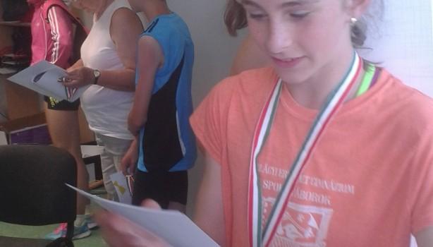 Csuta Dorottya bronz, a diákolimpián 2016.05.30.