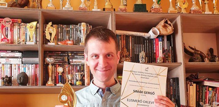 Elismerő díjat kapott Simák Gergő atlétánk